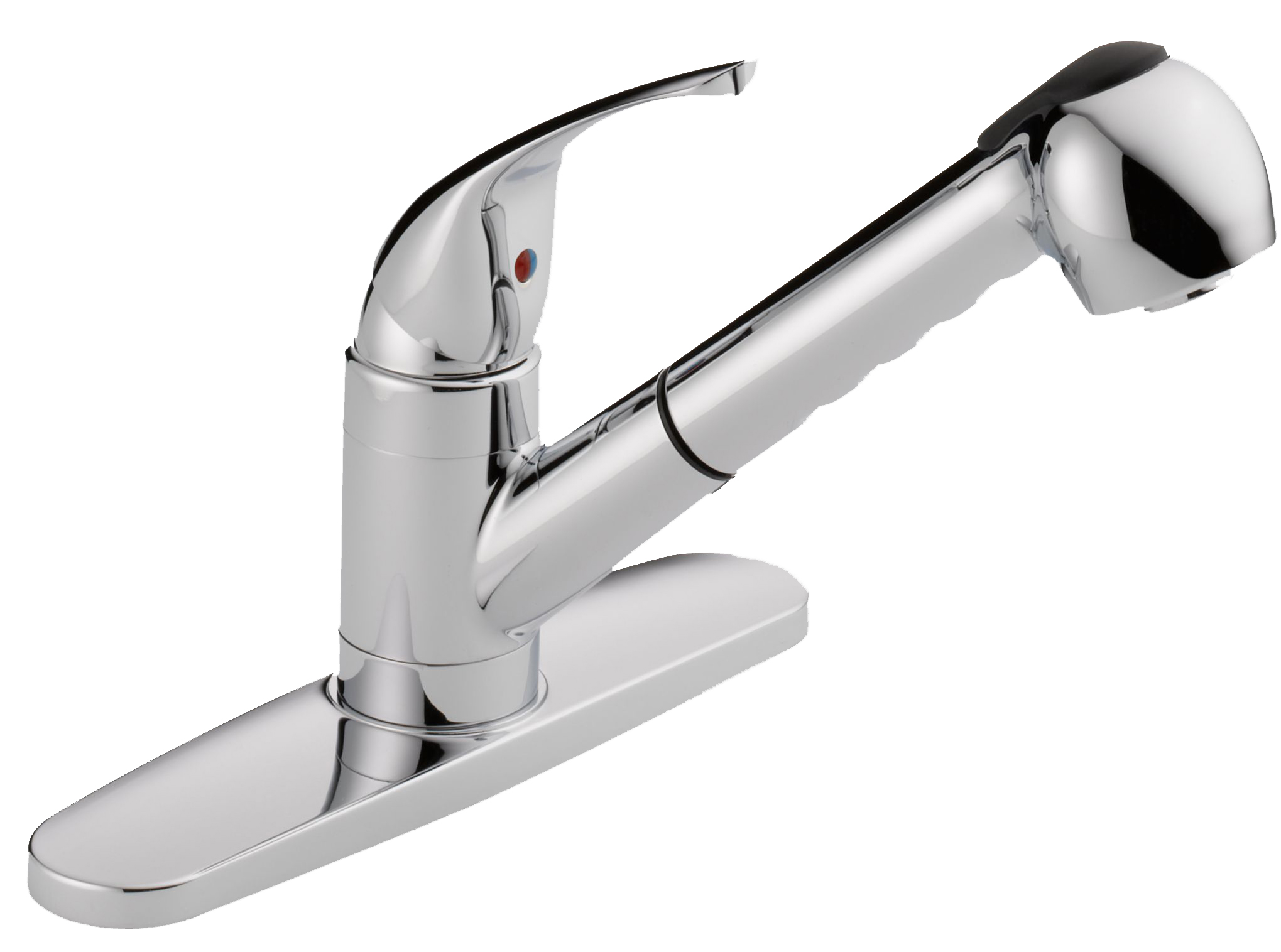 Westbrass Single Handle Pull-out Spray Kitchen Faucet in Polished Chrome