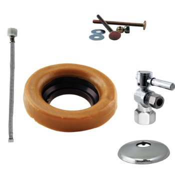 Cross Handle Ball Valve Toilet Kit Amp Wax Ring